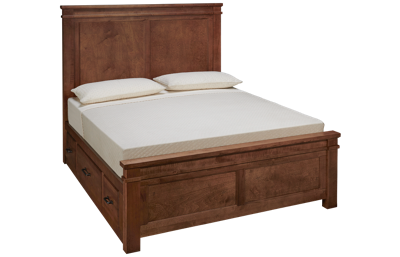 Vaughan-Bassett Cool Rustic Queen Mansion Bed with Side
