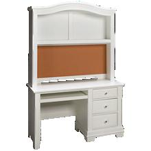 Vaughan-Bassett Cottage 3 Drawer Desk with Hutch