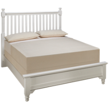 Vaughan-Bassett Queen Low Profile Slat Bed