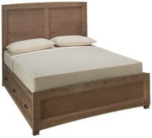 Vaughan-Bassett Transition Queen Panel Storage Bed