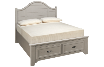 Vaughan-Bassett Bungalow Queen Arched Storage Bed