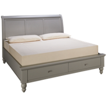 Aspen Cambridge King Sleigh Platform Storage Bed