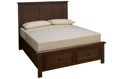 Vaughan-Bassett Artisan Choices Queen Panel Storage Bed