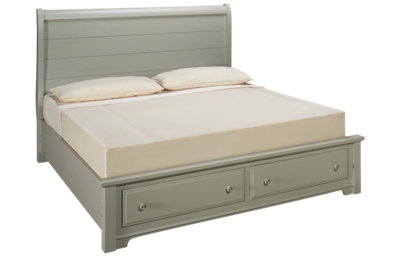 Vaughan-Bassett Cottage King Sleigh Storage Bed