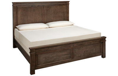 Vaughan-Bassett Cool Rustic King Mansion Bed