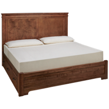 Vaughan-Bassett Cool Rustic King Mansion Low Profile Bed with Side Storage