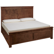 Vaughan-Bassett Cool Rustic King Mansion Bed with Side Storage