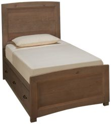 Vaughan-Bassett Transitions Twin Panel Bed with Storage Unit