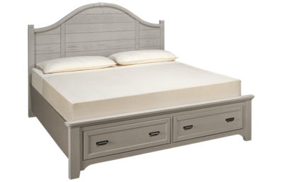 Vaughan-Bassett Bungalow King Arched Storage Bed