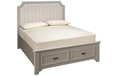 Vaughan-Bassett Bungalow Queen Upholstered Storage Bed