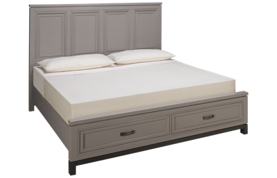 Aspen Hyde Park King Panel Platform Storage Bed