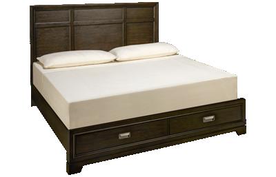 Aspen Front Street King Panel Platform Storage Bed