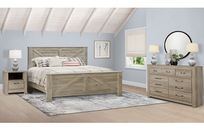 Bellaby 3 Piece King Bedroom Set Includes: King