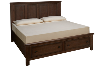 Vaughan-Bassett Artisan Choices King Panel Storage Bed