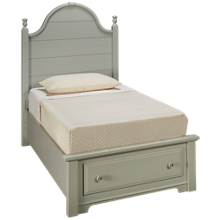 Vaughan-Bassett Cottage Twin Panel Storage Bed