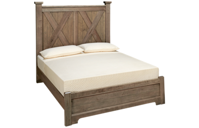 Vaughan-Bassett Cool Rustic Queen X Low Profile Bed