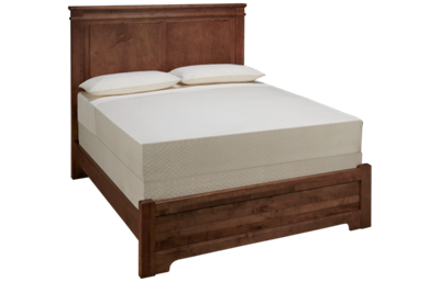 Vaughan-Bassett Cool Rustic Queen Low Profile Mansion Bed