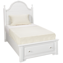 Vaughan-Bassett Cottage Twin Panel Storage Bed