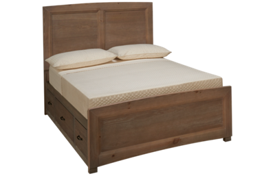Vaughan-Bassett Transitions Full Panel Bed with Storage Unit