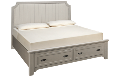 Vaughan-Bassett Bungalow King Upholstered Storage Bed