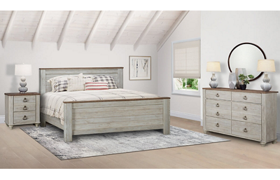 Willowton 3 Piece King Bedroom Set Includes: King