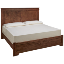 Vaughan-Bassett Cool Rustic King Low Profile Mansion Bed