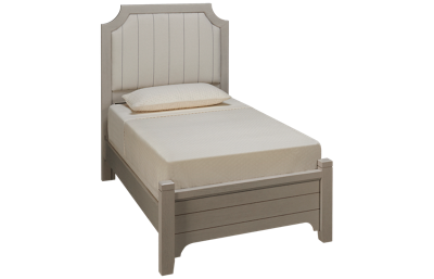 Vaughan-Bassett Bungalow Twin Low Profile Upholstered Bed