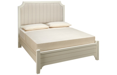 Vaughan-Bassett Bungalow Queen Low Profile Upholstered Bed