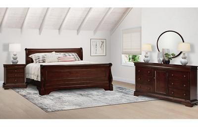 Versailles 3 Piece King Bedroom Set Includes: King