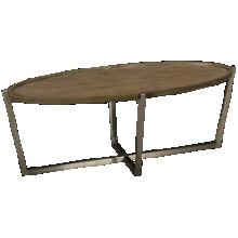 Flexsteel Platform Rustic Oval Cocktail Table