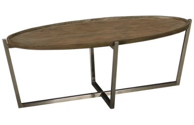 Flexsteel Platform Rustic Oval Cocktail Table