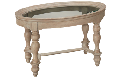 Hekman Homestead Collection Oval Glass Top Cocktail Table