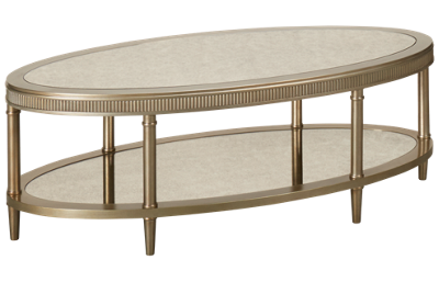 Bassett Mirror Vanesta Oval Cocktail Table