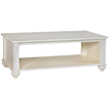 Klaussner Home Furnishings White Basket Cocktail Table