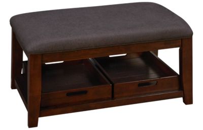 Jofran Twin Cities Ottoman Cocktail Table with Storage