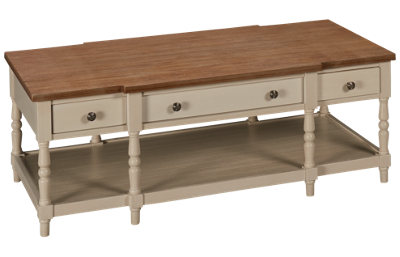 Jofran Grafton Farms 3 Drawer Cocktail Table with Casters