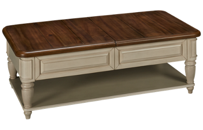 Klaussner Home Furnishings Nashville Cocktail Table with Storage