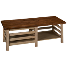 Aspen Modern Farmhouse Rectangle Cocktail Table