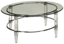 Bassett Mirror Cristal Glass Cocktail Table