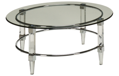 Bassett Mirror Cristal Glass Cocktail Table
