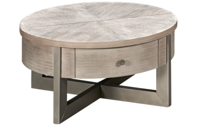 Ashley Urlander Lift-Top Round Cocktail Table with Storage