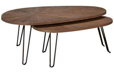 Hammary Oblique Bunching Cocktail Table
