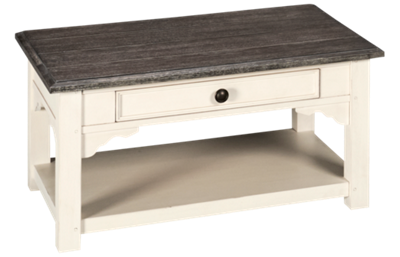 Riverside Grand Haven Small 1 Drawer Coffee Table with Storage