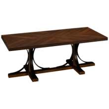 Magnolia Home Iron Trestle Coffee Table