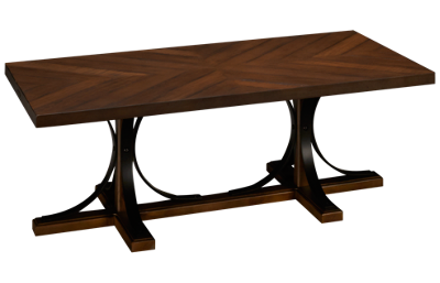Magnolia Home Iron Trestle Coffee Table