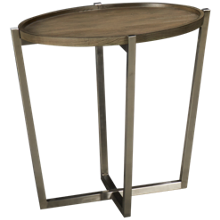 Flexsteel Platform Rustic Oval End Table