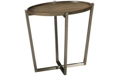 Flexsteel Platform Rustic Oval End Table