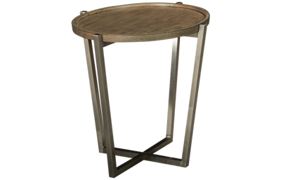 Flexsteel Platform Rustic Round Lamp Table