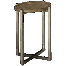 Flexsteel Platform Rustic Round Chairside Table