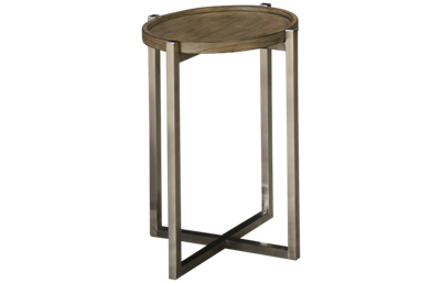 Flexsteel Platform Rustic Round Chairside Table
